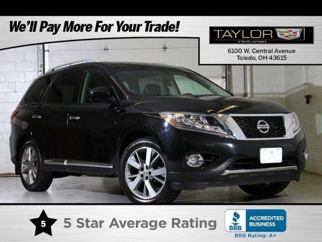 2015 Nissan Pathfinder Platinum B94 REAR BUMPER PROTECTOR CHARCOAL  LEATHER SEATING SURFACES  -i