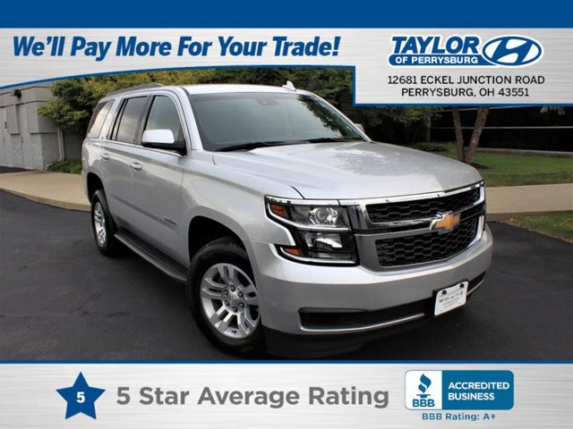 2018 Chevrolet Tahoe LT LICENSE PLATE FRONT MOUNTING PACKAGE TIRES  P26565R18 ALL-SEASON  BLACKWA