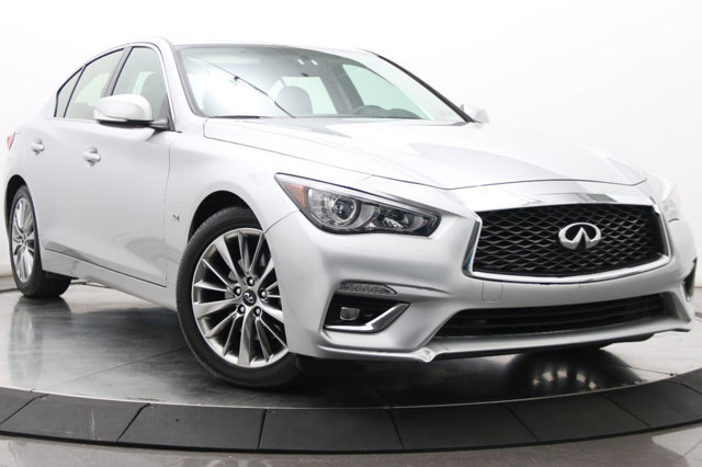2018 INFINITI Q50 30t LUXE GRAPHITE  LEATHER-APPOINTED SEATING GRAPHITE  LEATHERETTE SEATING SURF