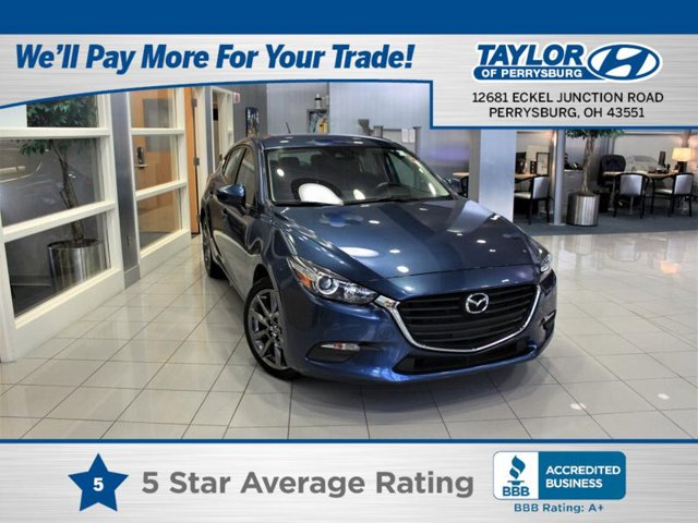 2018 Mazda Mazda3 5-Door Touring ETERNAL BLUE MICA BLACK  LEATHERETTE SEAT TRIM Front Wheel Drive