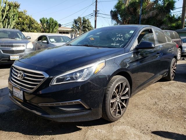 2015 Hyundai Sonata 24L SE PHANTOM BLACK GRAY  PREMIUM CLOTH SEATING SURFACES Front Wheel Drive