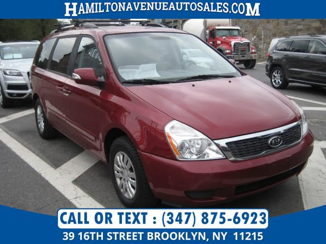 2012 Kia Sedona LX GRAY  SEAT TRIM CLARET RED Front Wheel Drive Power Steering 4-Wheel Disc Bra
