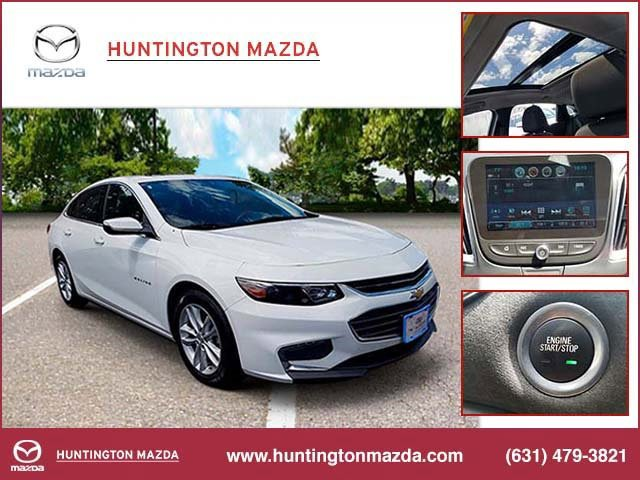 2018 Chevrolet Malibu LT STEERING WHEEL  LEATHER-WRAPPED 3-SPOKE TIRES  P22555R17 ALL-SEASON  BLA