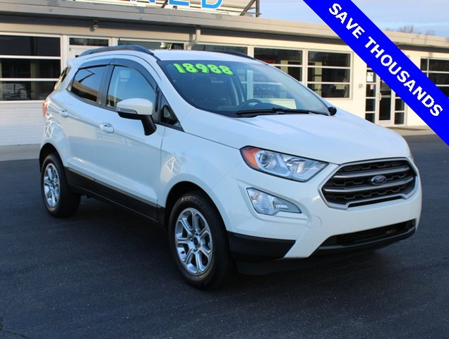 Diamond White 2019 Ford EcoSport SE SUV Winston-Salem NC
