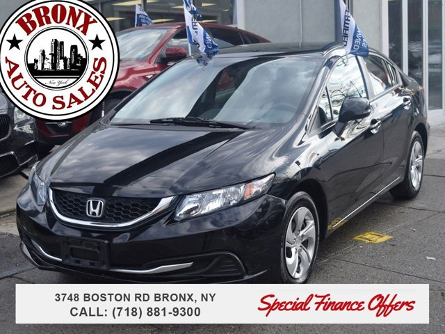 2013 Honda Civic Sdn LX Front Wheel Drive Power Steering Front DiscRear Drum Brakes Wheel Cover