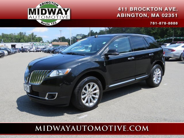 2014 LINCOLN MKX Base CHARCOAL WBLACK PIPING  PREMIUM LEATHER BUCKET SEATS  -inc tuxedo stripe pi