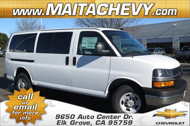2017 Chevrolet Express Passenger LS WhitePewter V8 48L Automatic 5 miles  AG1 AG2 AS5 ATG B30