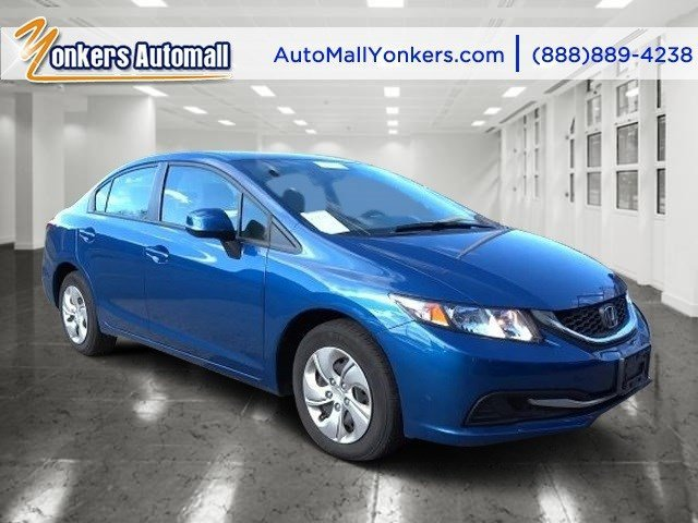 2013 Honda Civic Sdn LX Dyno Blue PearlBeige V4 18L Automatic 23058 miles 1 owner clean carf