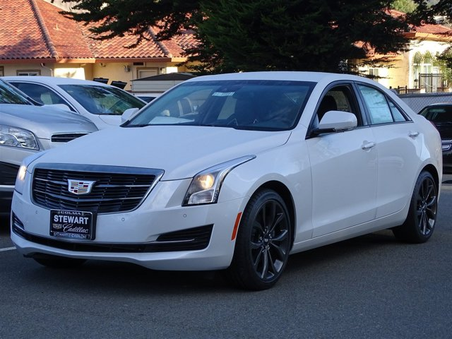 2017 Cadillac ATS Sedan Luxury RWD Crystal White TricoatJet Black with Jet Black Accents V4 20L