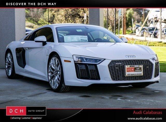 2017 Audi R8 Coupe V10 Ibis WhiteBlack  Silver Stitching V10 52 L Automatic 0 miles Boasts 2