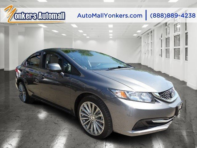 2013 Honda Civic Sdn LX Polished Metal MetallicGray V4 18L Automatic 44539 miles 1 owner cle