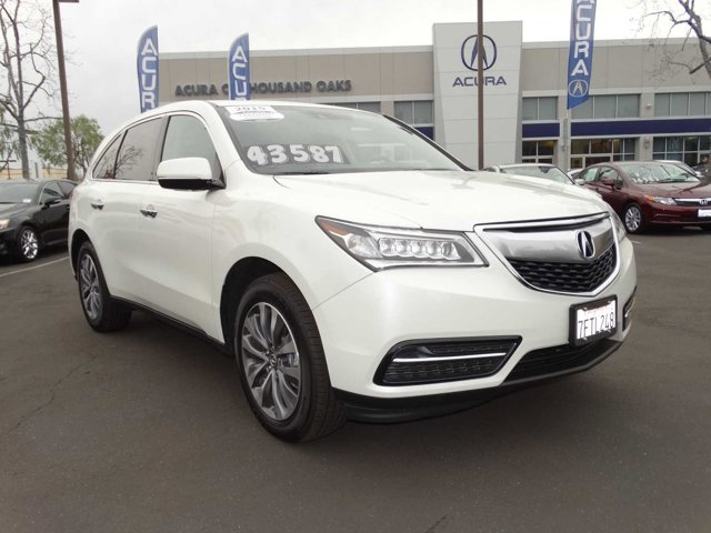 2015 Acura MDX Technology Package White Diamond PearlEUCALYPTUS V6 35 L Automatic 6871 miles