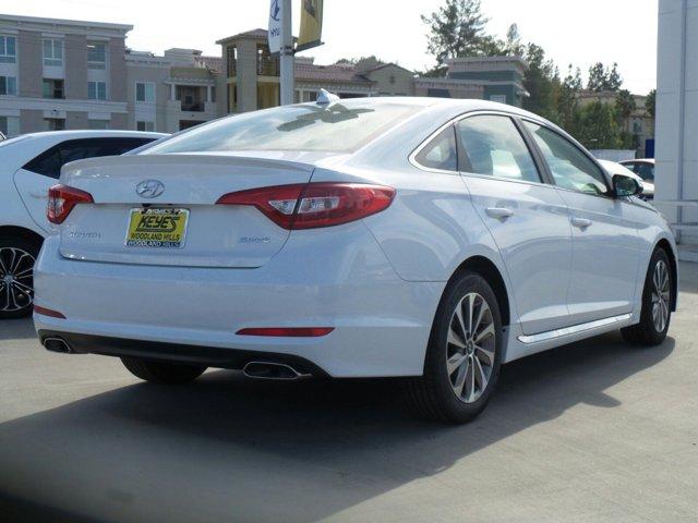 2017 Hyundai Sonata Sport White V4 24 L Automatic 17 miles Woodland Hills Hyundai come and s