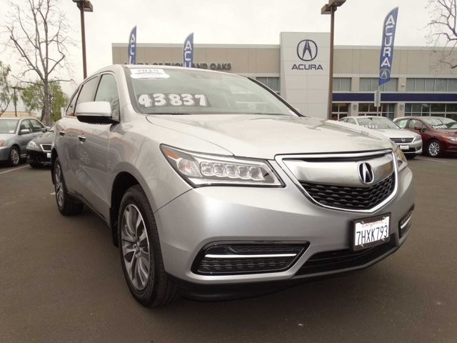 2015 Acura MDX Technology Package Silver Moon V6 35 L Automatic 4563 miles PASSED THE 180 PO