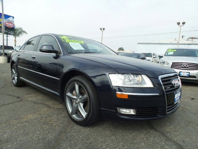 2009 Audi A8 Quattro Sport Pkg 4D Sedan V8 42L AWD Night Blue PearlEspresso Brown V8 42L Autom