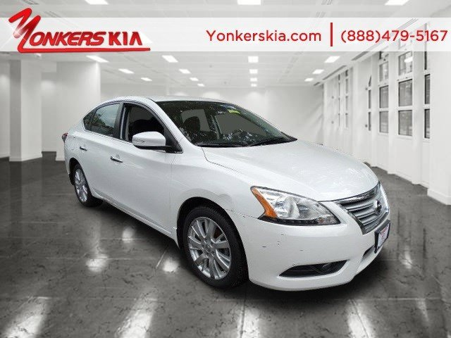 2013 Nissan Sentra SV Aspen WhiteMarble Gray V4 18L Automatic 23150 miles Yonkers Kia is the
