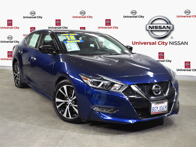 2018 Nissan Maxima S Deep Blue PearlCharcoal V6 35 L Variable 3162 miles Clean CARFAX Certifi