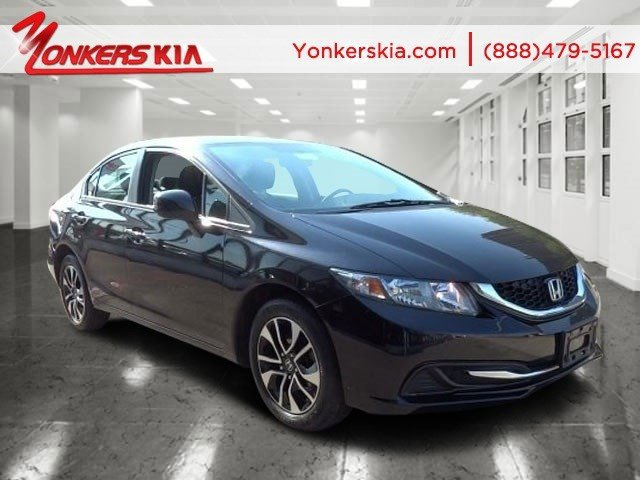 2013 Honda Civic Sdn EX Crystal Black PearlBlack V4 18L Automatic 28057 miles Sunroof rear c