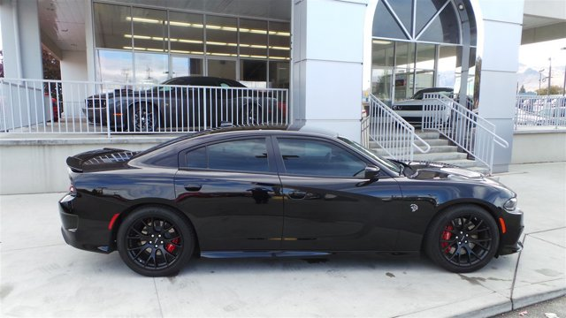 2016 Dodge Charger SRT Hellcat Pitch Black Clearcoat V8 62 L Automatic 3956 miles  Supercharg