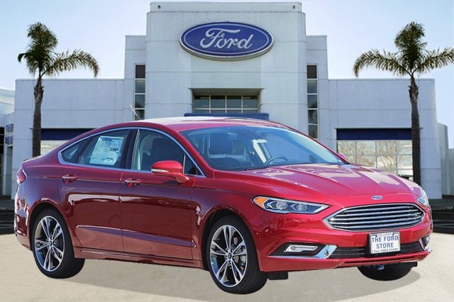 2017 Ford Fusion Titanium Ruby Red Metallic Tinted ClearcoatEbony V4 20 L Automatic 3 miles W