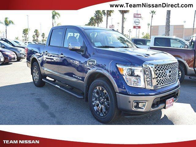 2017 Nissan Titan Platinum Reserve Deep Blue PearlBlackBrown V8 56 L Automatic 0 miles  Rear