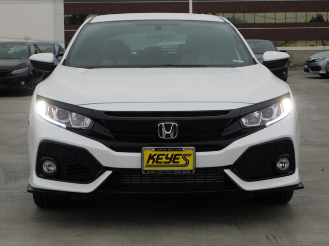 2018 Honda Civic Hatchback Sport White Orchid PearlBLKIVORY FABRIC V4 15 L Manual 6 miles  E