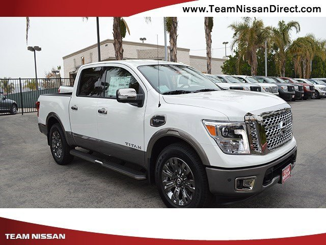 2017 Nissan Titan Platinum Reserve Pearl WhiteBlackBrown V8 56 L Automatic 0 miles  Rear Whe