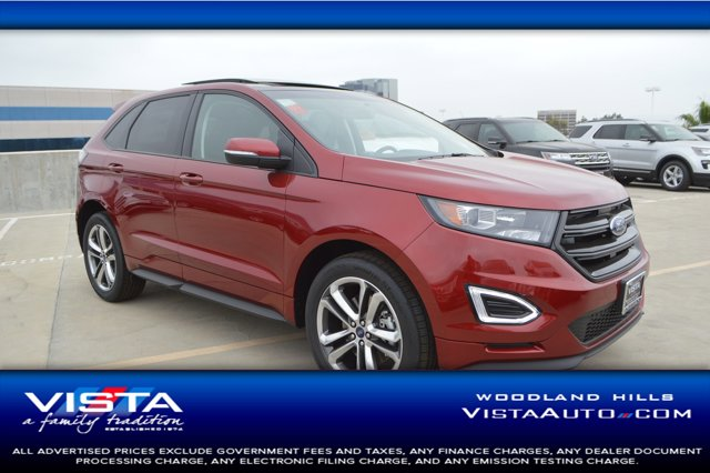 2018 Ford Edge Sport Ruby Red Metallic Tinted ClearcoatEbony V6 27 L Automatic 2 miles  RR S