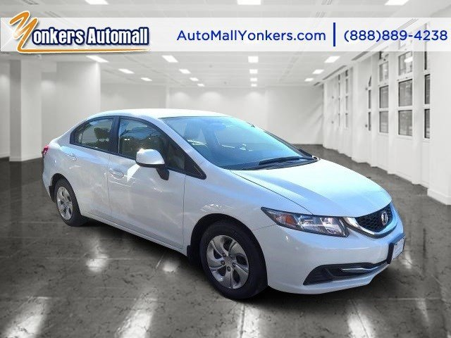 2013 Honda Civic Sdn LX Taffeta WhiteBeige V4 18L Automatic 43358 miles 1 owner clean carfax