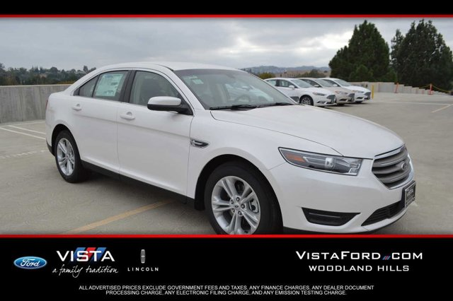 2016 Ford Taurus SEL White Platinum Metallic Tri-CoatMD CLOTH BUCKET 5-PASSENGER DUNE V6 35 L A