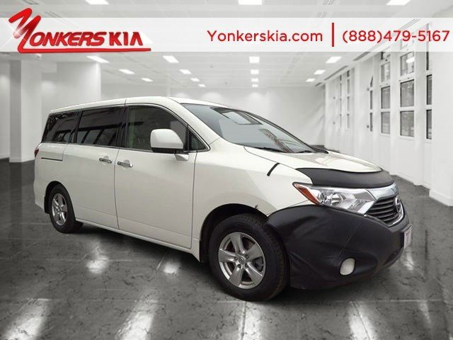 2012 Nissan Quest SV White PearlBeige V6 35L Automatic 33919 miles 1 owner clean carfax Ni