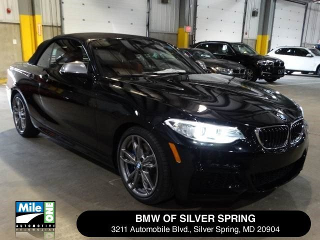 2015 BMW 2 Series M235i Black Sapphire MetallicCoral RedBlack V6 30 L Automatic 0 miles Plea