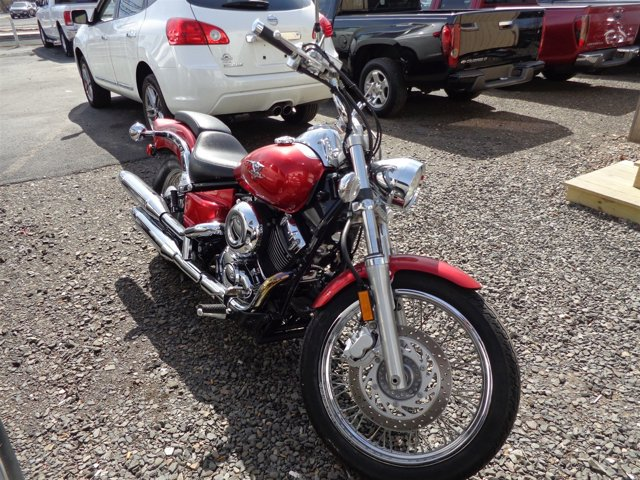 2007 YAMAHA XVS650 V-Star Red V2 6490 Manual 634 miles   Stock 006000 VIN JYAVM01E07A114
