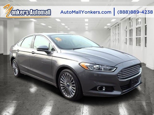 2013 Ford Fusion Titanium Sterling GrayCharcoal Black V4 20L Automatic 41419 miles Navigation