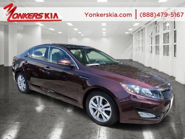 2013 Kia Optima EX Dark Cherry Pearl MetallicBeige V4 24L Automatic 10036 miles 1 owner clea