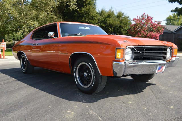 1972 Chevrolet Chevelle Orange FlameBlack V8  Automatic 0 miles Simply stunning 1972 Heavy Che