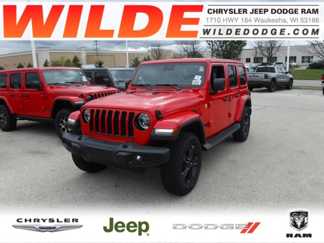 2019 Jeep Wrangler Unlimited Sahara Altitude Firecracker Red ClearcoatBlack V6 36 L Automatic 1