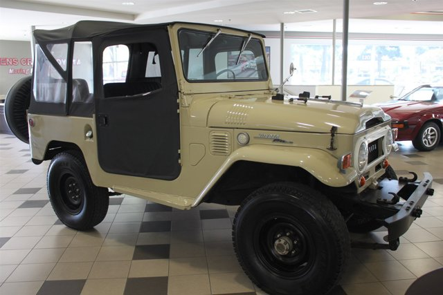 1969 Toyota FJ40 TanBlack V6  Manual 37499 miles Please call us  888-225-6685Beautiful restor