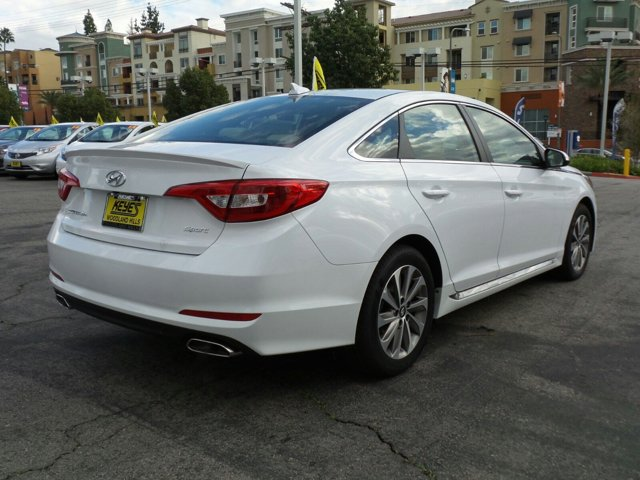 2017 Hyundai Sonata Sport WhiteTan V4 24 L Automatic 12 miles Woodland Hills Hyundai come an