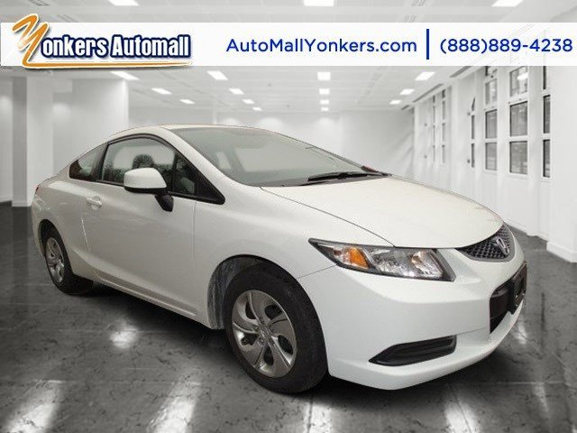 2013 Honda Civic Cpe LX Taffeta WhiteGray V4 18L Automatic 22553 miles Yonkers Auto Mall is t