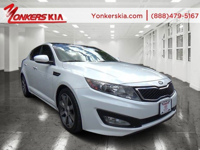 2012 Kia Optima SX Snow White PearlBlack V4 20L Automatic 66076 miles Turbo HeatedCooled S