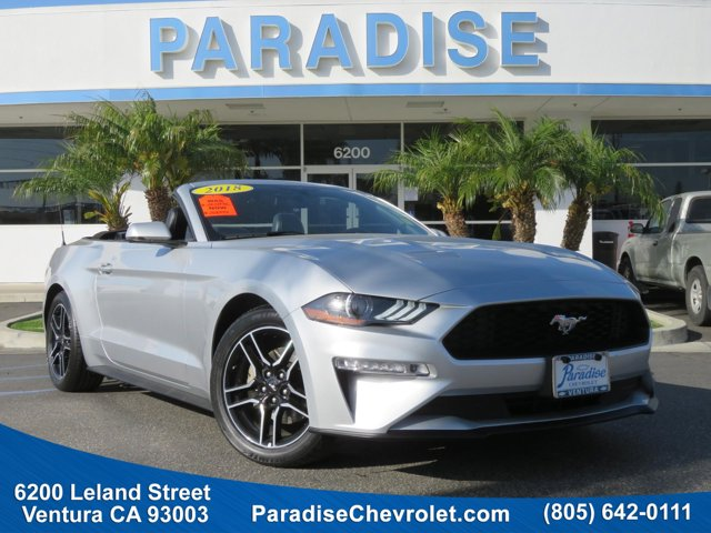 2018 Ford Mustang EcoBoost Premium Convertible 2 INGOT SILVERBlack V4 23 L Automatic 47167 mile