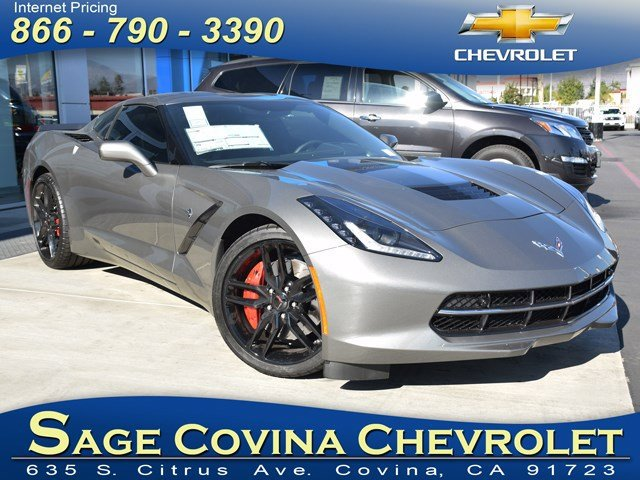 2016 Chevrolet Corvette Z51 3LT Shark Gray MetallicJet Black V8 62L Automatic 5 miles With it