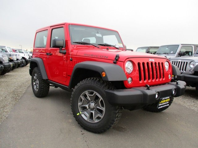 2017 Jeep Wrangler Rubicon Firecracker Red Clearcoat V6 36 L Manual 14 miles  AIR CONDITIONIN