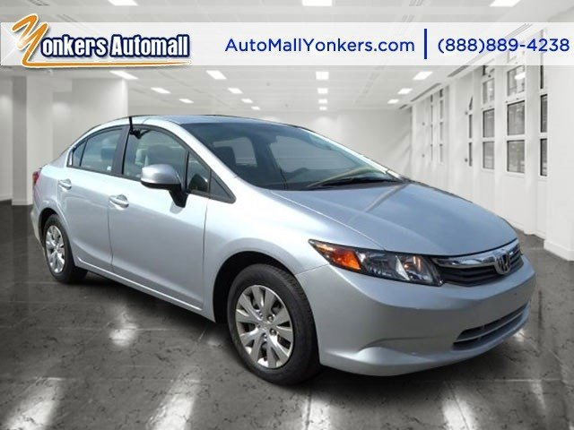 2012 Honda Civic Sdn LX Alabaster Silver MetallicGray V4 18L Automatic 37368 miles Energy-eff