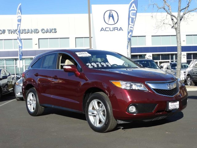 2013 Acura RDX Technology Package Basque Red Pearl IIParchment V6 35L Automatic 43672 miles