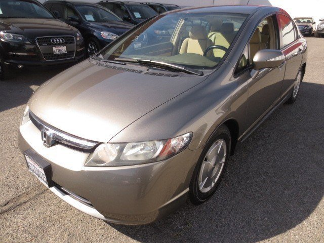 2007 Honda Civic Hybrid Galaxy Gray MetallicIvory V4 13L Automatic 76395 miles Low Miles Loca