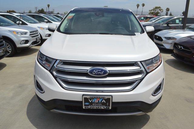2018 Ford Edge SEL UGWHITE PLATEbony V4 20 L Automatic 14 miles  Turbocharged  All Wheel Dr