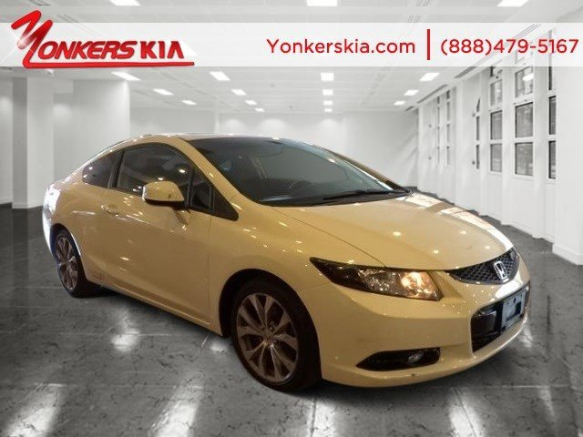 2012 Honda Civic Cpe Si Taffeta WhiteBlack V4 24L Manual 33957 miles Navigation NAV sunroo