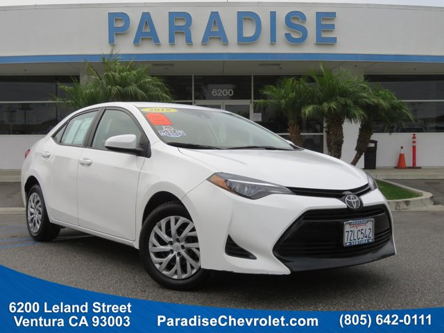 2018 Toyota Corolla LE WhiteBlack V4 18 L Variable 31920 miles Delivers 36 Highway MPG and 28